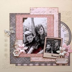 Album Vintage, Vintage Scrapbook, Wedding Scrapbook, Diy Scrapbook, Scrapbook Albums, Scrapbook Templates, Scrapbook Designs, Scrapbook Sketches, Scrapbook Page Layouts