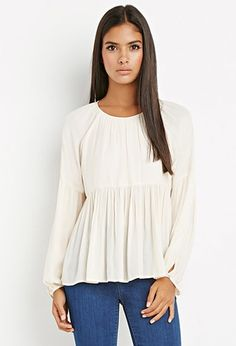 Contemporary Tiered Peasant Blouse | Forever 21 - 2000162165