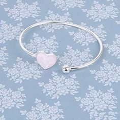 Learn how to make the Sweet Love Bangle using a pretty Swarovski heart in Crystal Powder Pink and a delicate sterling silver bangle base. Powder Pink, Bangles, Bracelets, Love Is Sweet, Other Accessories, Swarovski, Delicate, Jewelry Making, Hoop Earrings