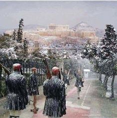 """""""The Acropolis in Athens, Greece covered in snow ❄️"""" Greece Photography, Winter Photography, Greek Culture, Athens Greece, Athens Acropolis, Ancient Greece, Winter Scenes, Greek Islands, Places To See"""