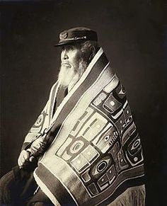 Indigenous peoples of the Pacific Northwest Coast ~ Chief Anotklosh of the Taku Tribe of the Tlingit people, ca. 1913