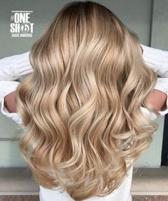 Perfect honey blonde balayage hair color Full head of Champagne and soft blonde … Perfect honey blonde balayage hair color Full head of Champagne and soft blonde woven highlights rose gold blonde highlights guy tang Golden Blonde Hair, Blonde Hair Looks, Brown Blonde Hair, Gold Blonde, Golden Blonde Highlights, Guy Tang Blonde, Champagne Blonde Hair, Blonde Hair Perm, Blonde Hair For Winter