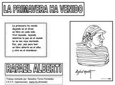 """Rafael Alberti: """"La primavera ha venido"""" Text Quotes, Chile, Texts, Spanish, Words, Books To Read, Reading, Open Book, Writers"""
