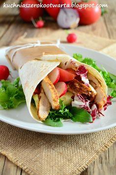 Kuchnia szeroko otwarta: Tortilla z grillowaną piersią kurczaka i warzywami