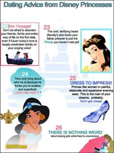 Dating advice from a Disney Princess. From Sociolgical Images blog. #disney