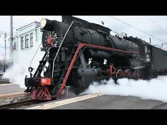 Russian Steam Locomotive Train - A steam locomotive is a railway locomotive that produces its pulling power through a steam engine. These locomotives are fue. Steam Engine, Water Supply, Steam Locomotive, Boiler, Trains, Diesel, Transportation, Russia, Engineering