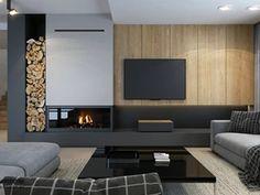 Living Room Decor Fireplace, Home Fireplace, Modern Fireplace, Cozy Living Rooms, Fireplace Design, Home Living Room, Küchen Design, House Design, Interior Design