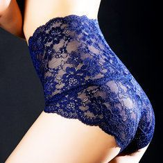 8cd62a7a6eb69 Lace High Waisted Hip-lifting Cotton Crotch Tummy Slimming Panties is  fashionable and cheap