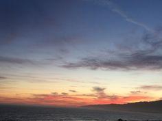 #Sunset in Blue Red & Black - over #Malibu