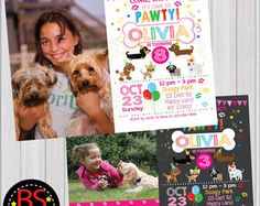 Puppy Party Birthday Package Party Printables by TrishaFayDesigns