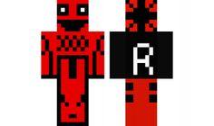 minecraft skin the-red-ninja