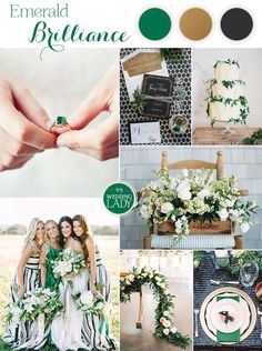Modern Preppy Wedding in Black, Gold, and Emerald with Mixed Prints! | http://heyweddinglady.com/modern-preppy-wedding-black-gold-emerald-mixed-prints/