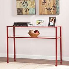 Schon Bronte Red Console Table