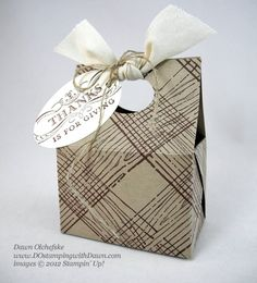 stampin up, dostamping, dawn olchefske, demonstrator, mini treat tote box, timber standard wheel