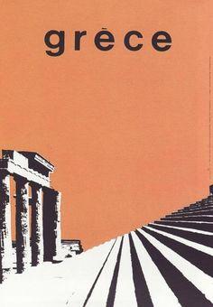 Design Routes exhibition, Benaki Museum, Athens Freddy Carabott,poster for the Greek National Tourist organization, 1963
