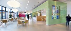 Cafe at Integrated Community Facility, Carluke | Holmes Miller Architects. Multifunctional space for students and/or community for both learning and social.