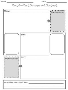 text-to-text connections graphic organizer...free by shelby