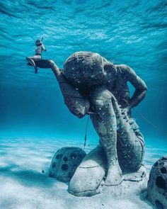 """EMBRACE Resort on Instagram: """"You can find the world's largest underwater sculpture in the Bahamas 🇧🇸 #oceanatlas 📸 @ggerbasi"""""""