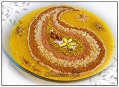 A Pretty presentation of Sholezard (Persian Saffron Rice Pudding)
