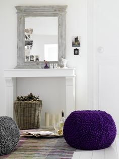Don't have a fireplace where you want one? Make it! Mantle & Mirror.