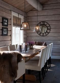 ideas for kitchen table chairs modern furniture Home Decor Kitchen, Rustic Kitchen, Kitchen White, Kitchen Ideas, Kitchen Hacks, Kitchen Table Chairs, Dining Tables, Dining Rooms, Modern Log Cabins