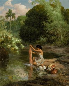 Bonhams Fine Art Auctioneers & Valuers: auctioneers of art, pictures, collectables and motor cars Indian Art Paintings, Old Paintings, Beautiful Paintings, Landscape Paintings, Carl Spitzweg, Filipino Art, Philippine Art, Realistic Paintings, Classical Art