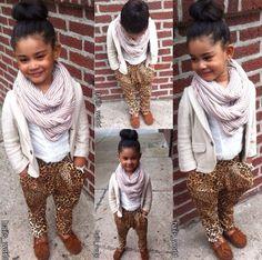 Kid fashionista winter look