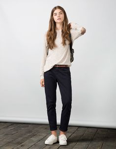 Bershka Jordan - BSK basic raglan sleeve pullover with elbow patches