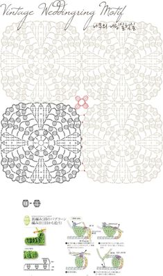 Vintage Weddingring Chart by Knitree, a variation on the Vintage Popcorn pattern…