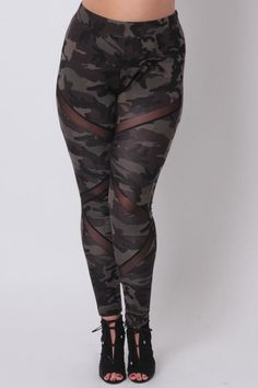 Plus Size Generation X Leggings - Camo - Sale! Up to 75% OFF! Shot at Stylizio for women's and men's designer handbags, luxury sunglasses, watches, jewelry, purses, wallets, clothes, underwear