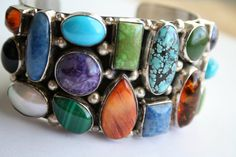 Navajo Silver  Handmade Wide Cuff Bracelet By Robert by Vrendon, $429.00