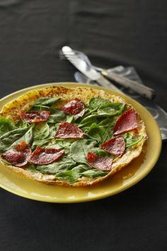 Spinazieomelet met salami - Boodschappen