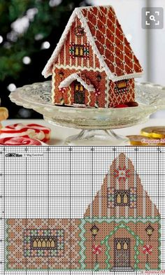 Discover thousands of images about Brigitte West Cross Stitch House, Xmas Cross Stitch, Cross Stitch Needles, Cross Stitch Charts, Cross Stitching, Cross Stitch Embroidery, Cross Stitch Patterns, Cross Stitch Christmas Ornaments, Christmas Embroidery