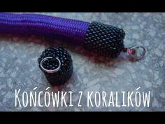 Końcówki z koralików [TUTORIAL] | Qrkoko.pl - YouTube Beading Projects, Beading Tutorials, Beading Patterns, Bracelet Tutorial, Seed Bead Art, Bead Crochet Rope, Jewelry Making Tutorials, Bead Caps, Diy Bracelet