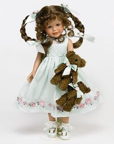 Tender Hearts, Doll featured on the cover of the Key to My Heart, by Linda Rick.  12 inch Collectible Vinyl Doll, LE 300     $  100.00 USD