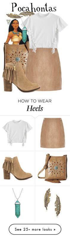 """""""Pocahontas (Pocahontas)"""" by fabfandoms on Polyvore featuring Betsey Johnson, M&F Western, River Island, ALDO and Lord & Taylor"""