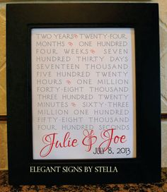 Save the Date Wedding Date Anniversary by ElegantSignsbyStella