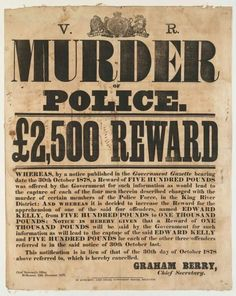 Ned Kelly Wanted Poster