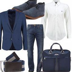 Non occorre necessariamente avere un abito per essere eleganti. Una giacca taglio a V perfettamente coordinata ad un jeans slim fit e ad una cinta in tessuto sono perfetti per farvi fare una bella figura senza rischiare di cadere troppo nella pesantezza.
