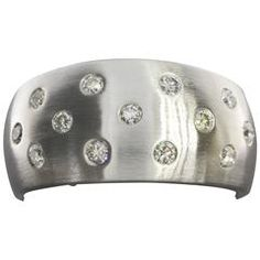 Diamond Flush Set Gold Tapered Wedding Band Ring
