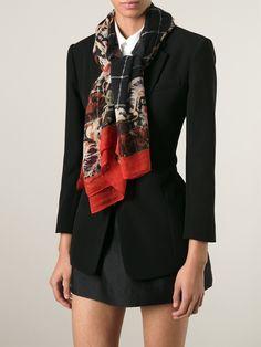 Dolce & Gabbana Echarpe De Seda E Cashmere - Parisi - Farfetch.com