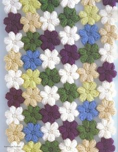 crochet flowers blanket