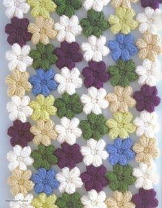 Idea: Crochet flower blanket