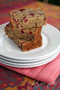 Gluten-Free Goddess Cranberry Bread Recipe #glutenfree #bread #baking