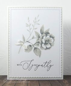 Pauline's Card Cupboard: With Sympathy Altenew Cards, Stampin Up Cards, Wink Of Stella, Scandinavian Christmas, Card Sketches, Flower Cards, Paper Crafts, Card Crafts, I Card