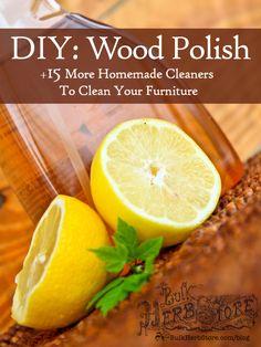 DIY Wood Polish + 15 More Homemade Furniture Cleaner Recipes