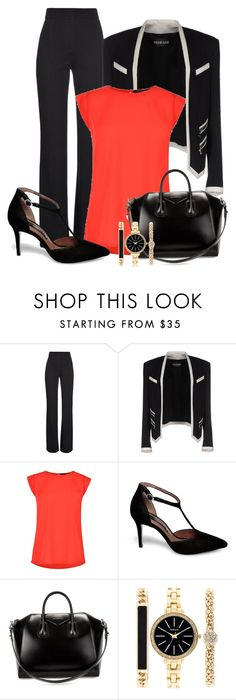 """""""Professional Wardrobe for All Ages Outfit: 19"""" by vanessa-bohlmann ❤ liked on Polyvore featuring Mode, Derek Lam, Balmain, French Connection, Steve Madden, Givenchy und Style & Co."""
