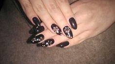 Black#gel#nails