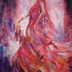 Flamenco Dancer - Dance Art Gallery 9 by Ballet Dance-Artist Spanish Dance, Spanish Art, Mary Cassatt, Dance Paintings, Paintings I Love, Edgar Degas, Renoir, Claude Monet, Dance Art