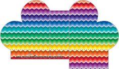 Arco Íris Cores Fortes – Kit Completo com molduras para convites, rótulos para guloseimas, lembrancinhas e imagens! |Fazendo a Nossa Festa